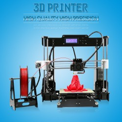 Reprap Prusa I3 DIY 3D Printer KIT LCD Screen Control MK8 Extruder with 8 GD SD card